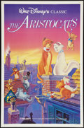 """Movie Posters:Animated, The Aristocats (Buena Vista, R-1987). One Sheet (27"""" X 41"""") andFrench Lobby Card Set of 8 (9"""" X 11.25""""). Animated.. ... (Total: 9Items)"""