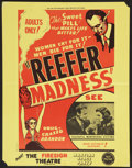 "Movie Posters:Exploitation, Reefer Madness / Martian Space Party Combo (New Line, R-1972).Special Poster (17"" X 22""). Exploitation.. ..."