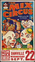 """Movie Posters:Miscellaneous, Tom Mix Circus Poster (Tom Mix Circus, 1937). Poster (28"""" X 42""""). Miscellaneous.. ..."""