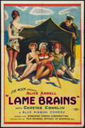 """Movie Posters:Comedy, Lame Brains (FBO, 1925). One Sheet (27"""" X 41""""). Style B. Comedy....."""