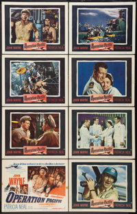 """Operation Pacific (Warner Brothers, 1951). Lobby Card Set of 8 (11"""" X 14""""). War. ... (Total: 8 Items)"""