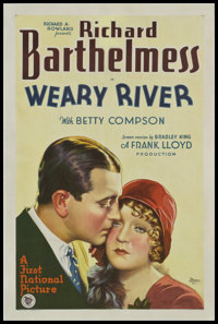 """Weary River (First National, 1929). One Sheet (27"""" X 41""""). Style A. Drama"""