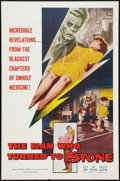 """Movie Posters:Science Fiction, The Man Who Turned to Stone (Columbia, 1957). One Sheet (27"""" X 41""""). Science Fiction.. ..."""