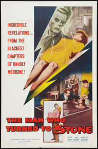 "The Man Who Turned to Stone (Columbia, 1957). One Sheet (27"" X 41""). Science Fiction"