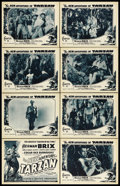 """Movie Posters:Serial, The New Adventures of Tarzan (Burroughs-Tarzan-Enterprise, 1935). Lobby Card Set of 8 (11"""" X 14""""). Chapter 11 -- """"Death's Fi... (Total: 8 Items)"""