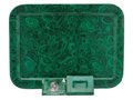 Decorative Arts, Continental:Other, AN ITALIAN FAUX MALACHITE TRAY, ASHTRAY AND CANDY DISH . PieroFornasetti, Milan, Italy, circa 1950. Marks: FORNASETTI - M...(Total: 3 Items)