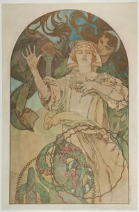 A CZECH LITHOGRAPHIC PRINT Alphonse Mucha (Czech, 1860-1939) Printed by V. Neubert, Prague, Czechoslovakia, 19