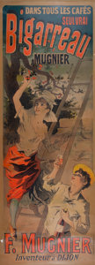 Paintings, A FRENCH POSTER: BIGARREAU MUGNIER. Jules Cheret (French, 1836-1932). Printed by Chaix, Paris, France, 1895. Marks:...