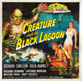 "Movie Posters:Horror, Creature From the Black Lagoon (Universal International, 1954). SixSheet (81"" X 81"").. ..."