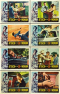 """Movie Posters:Science Fiction, Attack of the 50 Foot Woman (Allied Artists, 1958). Lobby Card Setof 8 (11"""" X 14"""").. ... (Total: 8 Items)"""
