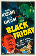 "Movie Posters:Horror, Black Friday (Universal, 1940). One Sheet (27"" X 41"").. ..."