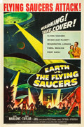 """Movie Posters:Science Fiction, Earth vs. the Flying Saucers (Columbia, 1956). One Sheet (27"""" X41"""").. ..."""