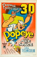 """Movie Posters:Animation, Ace of Space (Paramount, 1953). One Sheet (27"""" X 41""""). 3-D Style.. ..."""