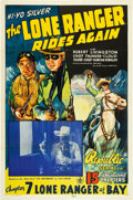 "Movie Posters:Serial, The Lone Ranger Rides Again (Republic, 1939). One Sheet (27"" X41""). Chapter 7--""Lone Ranger at Bay."". ..."