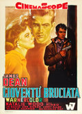 "Movie Posters:Drama, Rebel Without a Cause (Warner Brothers, R-1968). Italian 2 - Foglio (39"" X 55"").. ..."