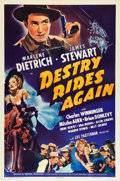 "Movie Posters:Western, Destry Rides Again (Universal, 1939). One Sheet (27"" X 41"") StyleB.. ..."