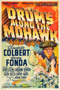 "Movie Posters:Adventure, Drums Along the Mohawk (20th Century Fox, 1939). One Sheet (27.25""X 40.75""). Style B.. ..."