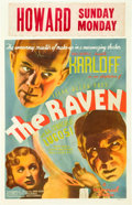 """Movie Posters:Horror, The Raven (Universal, 1935). Window Card (14"""" X 22"""").. ..."""