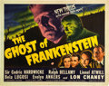 "Movie Posters:Horror, The Ghost of Frankenstein (Universal, 1942). Half Sheet (22"" X28"").. ..."