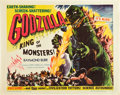 "Movie Posters:Science Fiction, Godzilla (Trans World, 1956). Half Sheet (22"" X 28""). Style B.. ..."