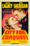 "Movie Posters:Drama, City for Conquest (Warner Brothers, 1940). One Sheet (27"" X 41"").. ..."