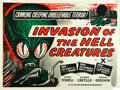 "Movie Posters:Science Fiction, Invasion of the Saucer-Men (Anglo Amalgamated, 1957). British Quad (30"" X 40""). This was released in the UK as Invasion of..."