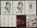 Baseball Collectibles:Others, Ted Williams, Carl Yastrzemski and Bob Doerr Signed Memorabilia Lotof 5....