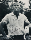 Golf Collectibles:Autographs, Arnold Palmer Signed Oversized Photograph....