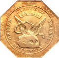 Territorial Gold, 1851 $50 RE Humbert Fifty Dollar, Reeded Edge, 887 Thous. AU58 NGC.K-6, R.4....
