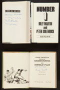 Baseball Collectibles:Publications, New York Yankees Signed Hardcover Books Lot of 3....