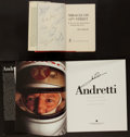 Miscellaneous Collectibles:General, New York Knicks and Mario Andretti Signed Hardcover Books Lot of2....