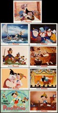 """Movie Posters:Animation, Pinocchio (Buena Vista, R-1971). Lobby Card Set of 9 (11"""" X 14""""). Animation.. ... (Total: 9 Items)"""