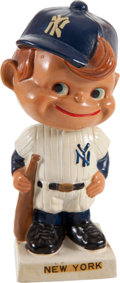 Baseball Collectibles:Others, 1961-63 New York Yankees White Base Nodder with Original Box....