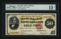 Large Size:Gold Certificates, Fr. 1195 $50 1882 Gold Certificate PMG Choice Fine 15 Net.. ...