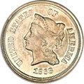 Patterns, 1868 5C Five Cents, Judd-633, Pollock-705, R.5--EnvironmentalDamage--NCS. Proof....