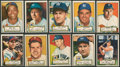 Baseball Cards:Sets, 1952 Topps Baseball Red Backs Low Series (43 Different). ...