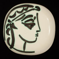 A FRENCH CERAMIC PLATE After Pablo Picasso (Spanish, 1881-1973) Madoura Pottery, Vallauris, France, circa 1956