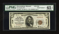National Bank Notes:Missouri, Warrensburg, MO - $5 1929 Ty. 1 The Peoples NB Ch. # 5156. ...