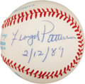 Boxing Collectibles:Autographs, Floyd Patterson Single Signed Baseball....