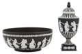 Ceramics & Porcelain, British:Contemporary   (1950 to present)  , AN ENGLISH CERAMIC BOWL AND COVERED URN . Wedgwood, Burslem(Stoke-on-Trent), Staffordshire, England, 20th century. Marks to...(Total: 3 Items)