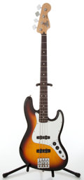 Musical Instruments:Bass Guitars, 2005 Fender Sunburst Electric Jazz Bass Guitar, Serial # MZ5097682....