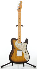 Musical Instruments:Electric Guitars, Recent Fender Sunburst Thinline Telecaster Electric Guitar, NoVisible Serial Number. ...