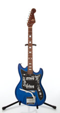 Musical Instruments:Electric Guitars, Late-1960s Teisco Model ET-220 Spectrum 2 Blue Electric Guitar,Serial # 4981....