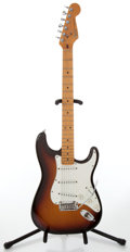 Musical Instruments:Electric Guitars, Circa 1987 Fender USA Stratocaster Standard Three Tone SunburstElectric Guitar, Serial # E400041....