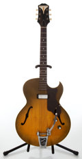 Musical Instruments:Electric Guitars, 1960s Epiphone Sorrento Model E452T Royal Olive SunburstSemi-Hollow Body Archtop Electric Guitar, Serial # 20129....