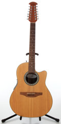 Musical Instruments:Acoustic Guitars, Recent Ovation Standard Balladeer Model 6751 Acoustic Electric XIIString Guitar, Serial # 570281....