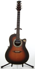 Musical Instruments:Acoustic Guitars, 1985 Ovation Balladeer Model # 1861 Sunburst Acoustic ElectricGuitar, Serial # 350921....