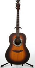 Musical Instruments:Acoustic Guitars, 1981 Ovation Balladeer Model # 1111 Sunburst Acoustic Guitar,Serial # 220151....