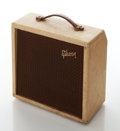 Musical Instruments:Amplifiers, PA, & Effects, 1960s Gibson Skylark Model GA-5T Tan Guitar Amplifier, Serial #106554....