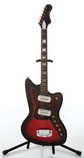 Musical Instruments:Electric Guitars, 1960s Harmony H15 Bobkat Cherry Burst Electric Guitar, No VisibleSerial Number. ...